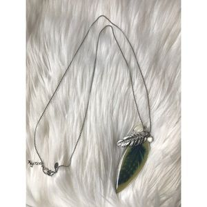 American Eagle Feather Pendant Necklace
